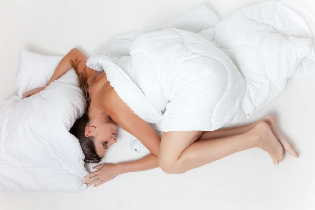 Woman sleeping on Organic Mattress