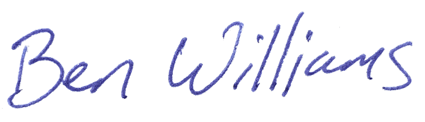 ben william's signature